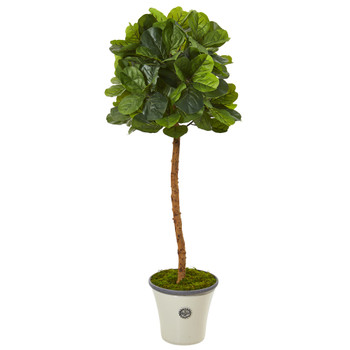5 Fiddle Leaf Artificial Tree in Decorative Planter Real Touch - SKU #T1151