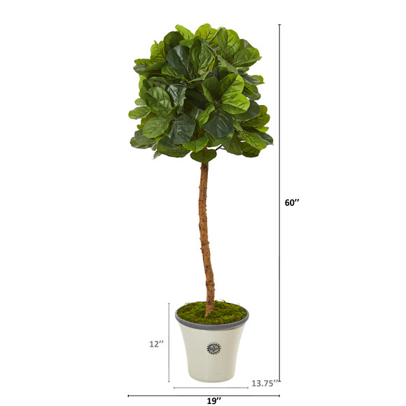 5 Fiddle Leaf Artificial Tree in Decorative Planter Real Touch - SKU #T1151 - 1