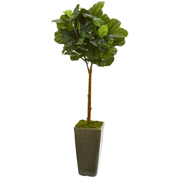 4 Fiddle Leaf Artificial Tree in Green Planter Real Touch - SKU #T1175