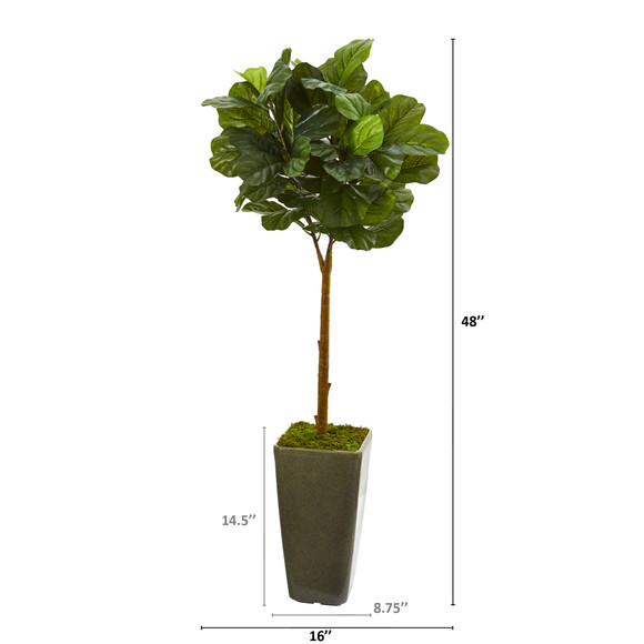 4 Fiddle Leaf Artificial Tree in Green Planter Real Touch - SKU #T1175 - 1