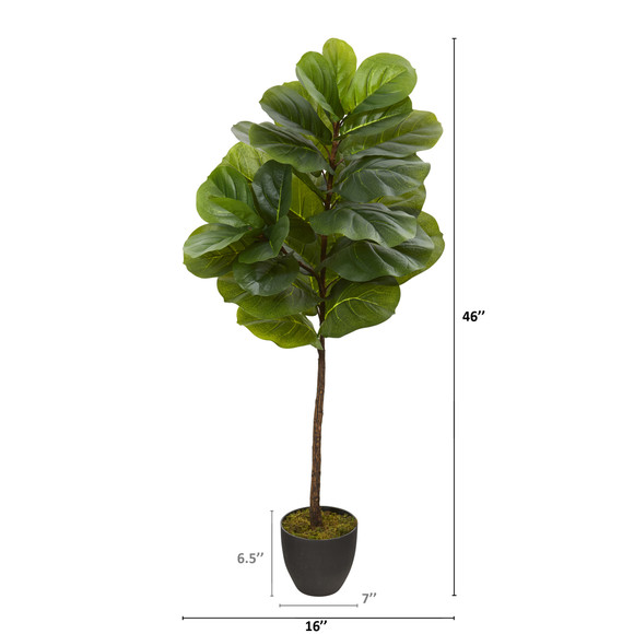 46 Fiddle Leaf Artificial Tree Real Touch - SKU #T1200 - 1