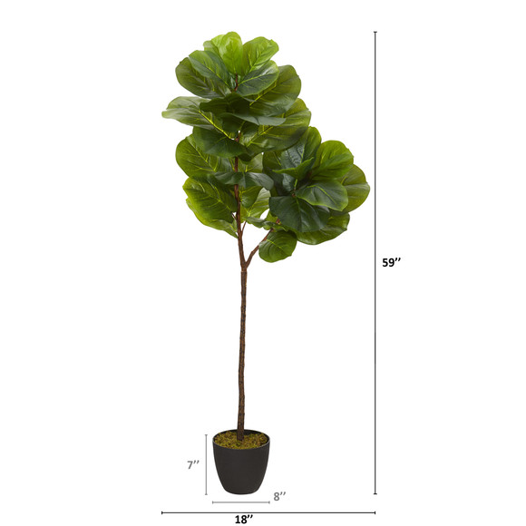 59 Fiddle Leaf Artificial Tree Real Touch - SKU #T1201 - 1