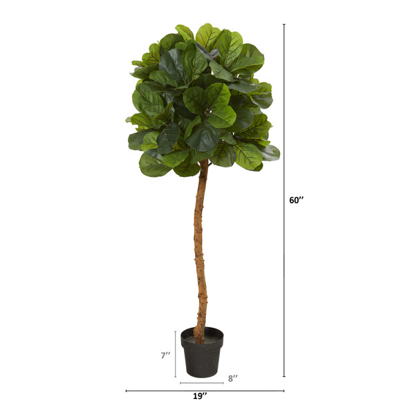 5 Fiddle Leaf Artificial Tree Real Touch - SKU #T1202 - 1