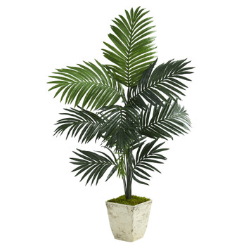 57 Kentia Artificial Palm Tree in Country White Planter - SKU #T1225