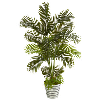 5.5 Areca Palm Artificial Tree in Decorative Tin Bucket - SKU #T1236