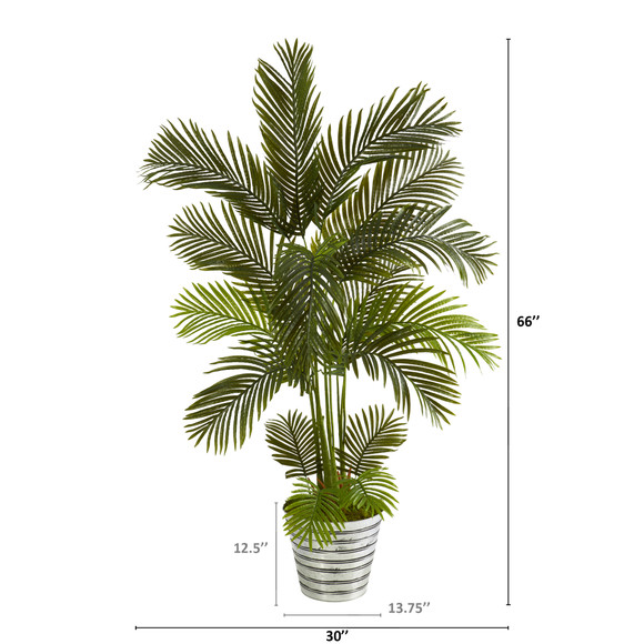 5.5 Areca Palm Artificial Tree in Decorative Tin Bucket - SKU #T1236 - 1