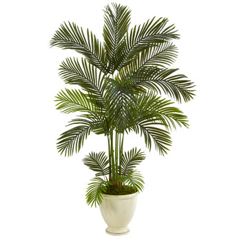 65 Areca Palm Artificial Tree in Decorative Urn - SKU #T1240