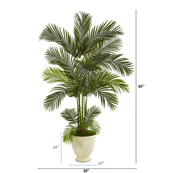 65 Areca Palm Artificial Tree in Decorative Urn - SKU #T1240 - 1