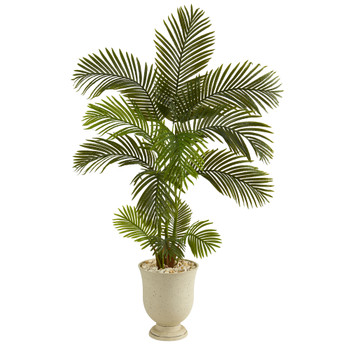 6 Areca Palm Artificial Tree in Decorative Urn - SKU #T1242
