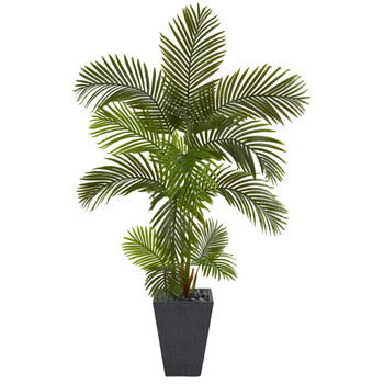 65 Areca Palm Artificial Tree in Slate Planter - SKU #T1244