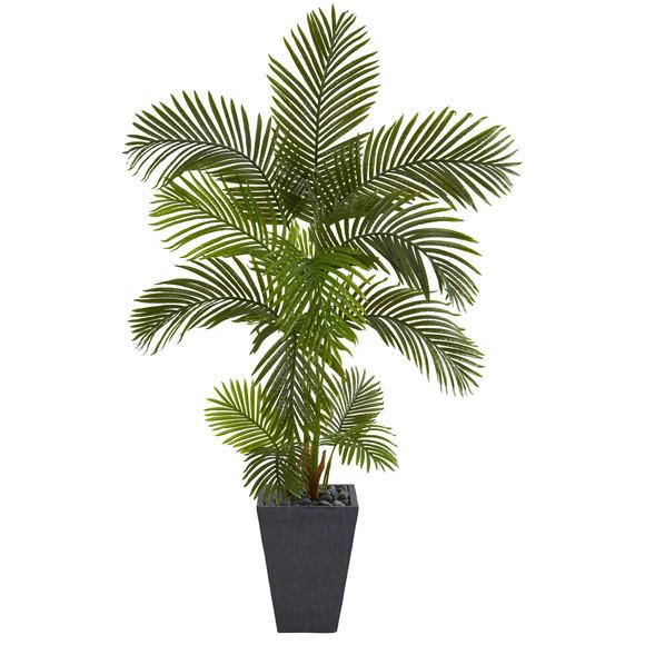 65 Areca Palm Artificial Tree in Slate Planter - SKU #T1244