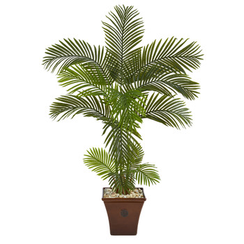 5 Areca Palm Artificial Tree in Brown Planter - SKU #T1245