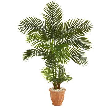 5 Areca Palm Artificial Tree in Terra-Cotta Planter - SKU #T1248