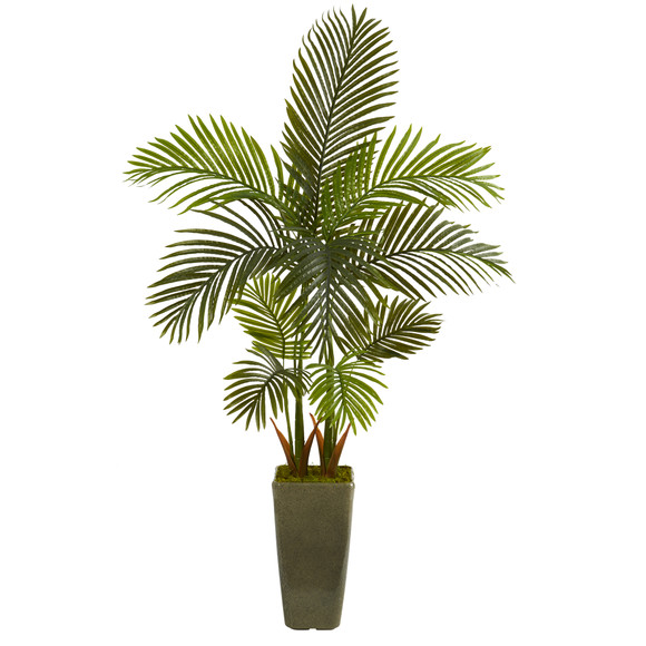 5 Areca Palm Artificial Tree in Green Planter - SKU #T1249
