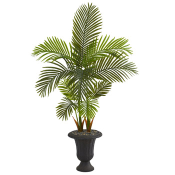 59 Areca Palm Artificial Tree in Charcoal Urn - SKU #T1253