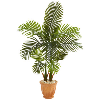 56 Areca Palm Artificial Tree in Terra-Cotta Planter - SKU #T1255