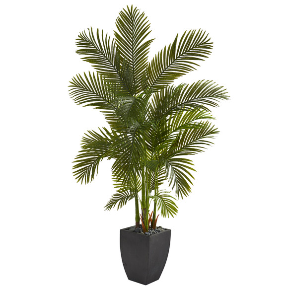 70 Areca Palm Artificial Tree in Black Planter - SKU #T1257