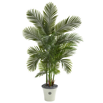 69 Areca Palm Artificial Tree in Decorative Planter - SKU #T1260