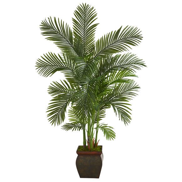 69 Areca Palm Artificial Tree in Decorative Planter - SKU #T1262