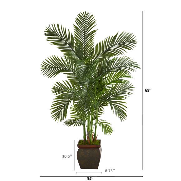 69 Areca Palm Artificial Tree in Decorative Planter - SKU #T1262 - 1