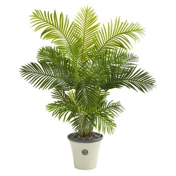 62 Hawaii Palm Artificial Tree in Decorative Planter - SKU #T1265