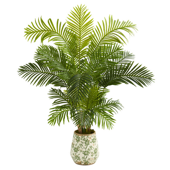 5 Hawaii Palm Artificial Tree in Floral Print Planter - SKU #T1266