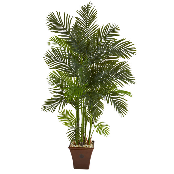 74 Areca Palm Artificial Tree in Brown Planter - SKU #T1271