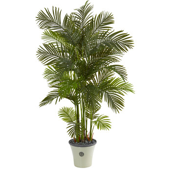 74 Areca Palm Artificial Tree in Decorative Planter - SKU #T1275