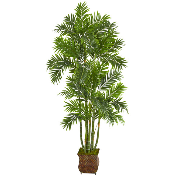 70 Areca Palm Artificial Tree in Metal Planter - SKU #T1276