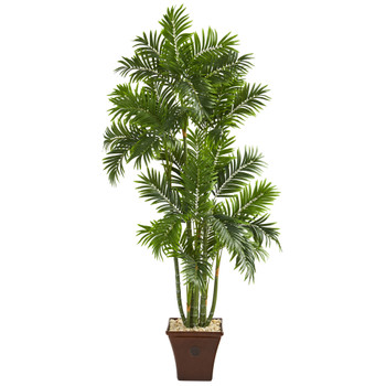 71 Areca Palm Artificial Tree in Brown Planter - SKU #T1278