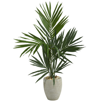 50 Kentia Artificial Palm Tree in Sand Colored Planter - SKU #T1291