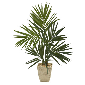 50 Kentia Artificial Palm Tree in Country White Planter - SKU #T1293