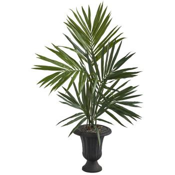 52 Kentia Artificial Palm Tree in Charcoal Urn - SKU #T1295
