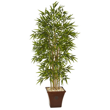 64 Bamboo Artificial Tree in Brown Planter - SKU #T1304