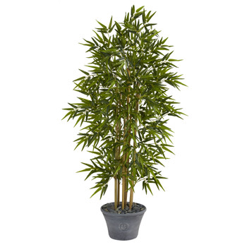 64 Bamboo Artificial Tree in Gray Planter - SKU #T1305