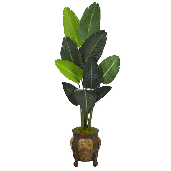 5.5 Travelers Palm Artificial Tree in Decorative Planter - SKU #T1325