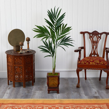 51 Kentia Artificial Palm Tree in Decorative Planter - SKU #T1355