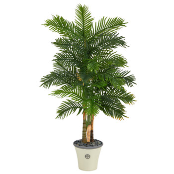 70 Areca Palm Artificial Tree in Decorative Planter Real Touch - SKU #T1365