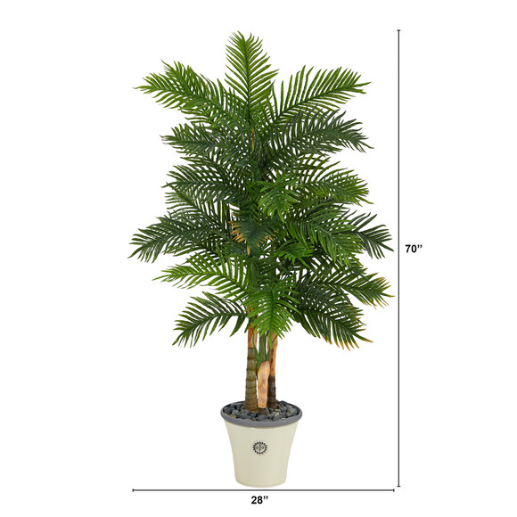 70 Areca Palm Artificial Tree in Decorative Planter Real Touch - SKU #T1365 - 1