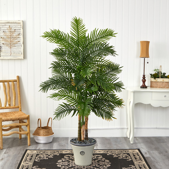 70 Areca Palm Artificial Tree in Decorative Planter Real Touch - SKU #T1365 - 2