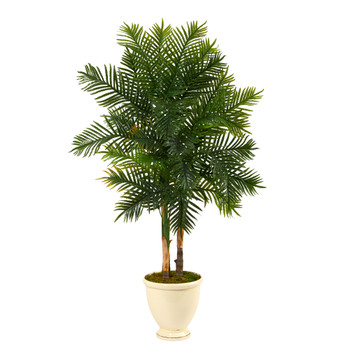5.5 Areca Palm Artificial Tree in Decorative Urn - SKU #T1367