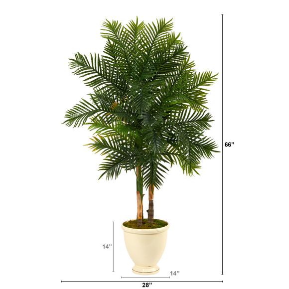 5.5 Areca Palm Artificial Tree in Decorative Urn - SKU #T1367 - 1