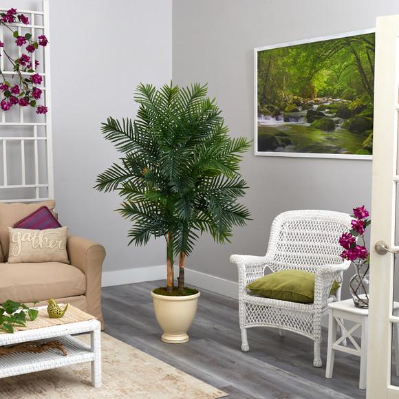 5.5 Areca Palm Artificial Tree in Decorative Urn - SKU #T1367 - 3