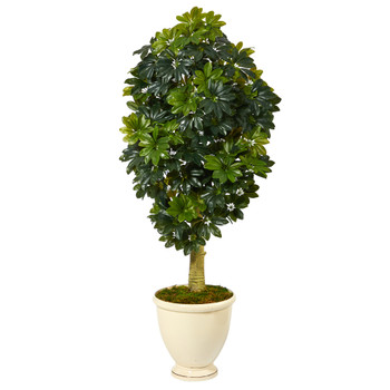 5 Schefflera Artificial Tree in Decorative Urn Real Touch - SKU #T1379