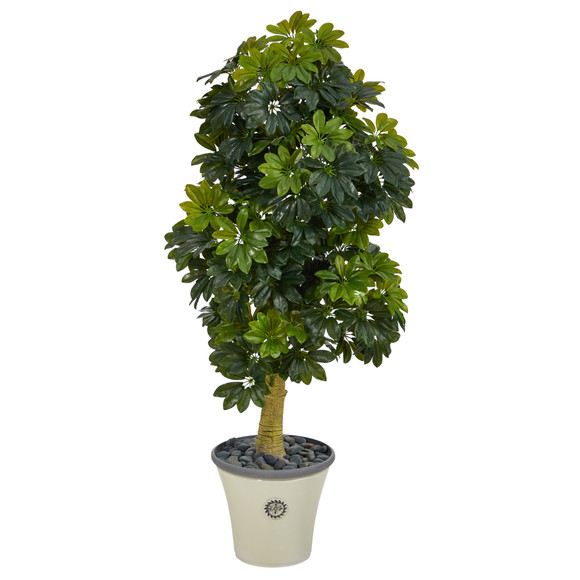 5 Schefflera Artificial Tree in Decorative Planter Real Touch - SKU #T1380