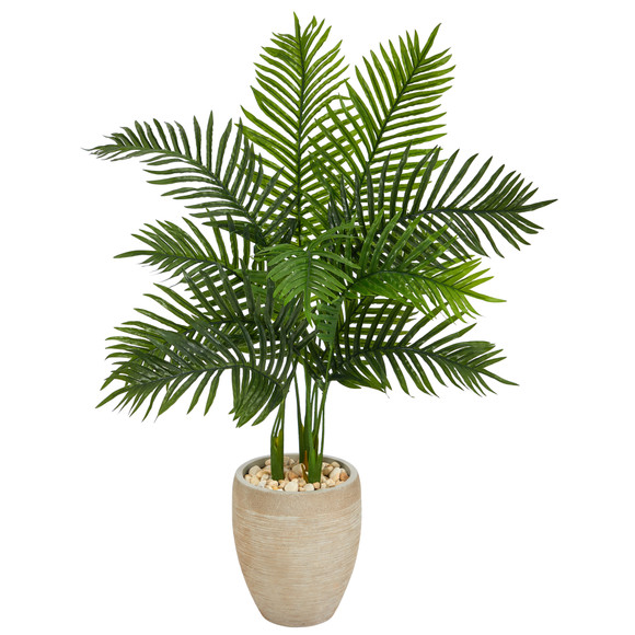 3.5 Areca Palm Artificial Tree in Sand Colored Planter Real Touch - SKU #T1387