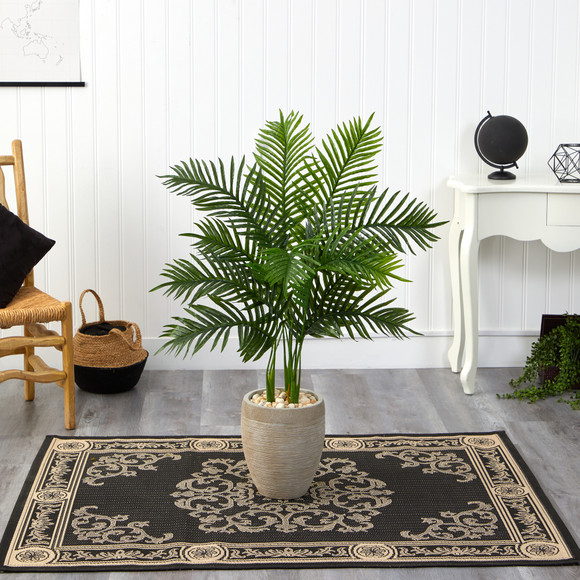 3.5 Areca Palm Artificial Tree in Sand Colored Planter Real Touch - SKU #T1387 - 2