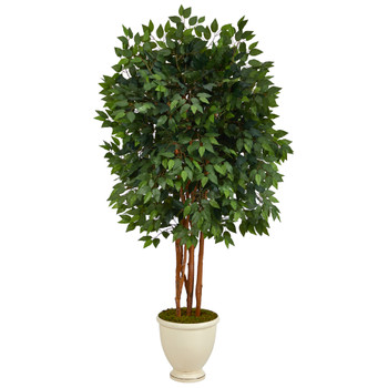 5.5 Super Deluxe Ficus Artificial Tree in Decorative Urn - SKU #T1390