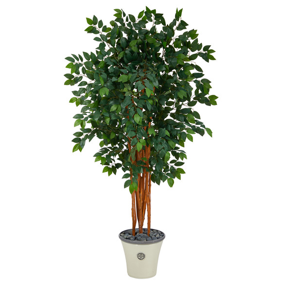 5.5 Sakaki Artificial Tree with 1470 Bendable Branches in Decorative Planter - SKU #T1398