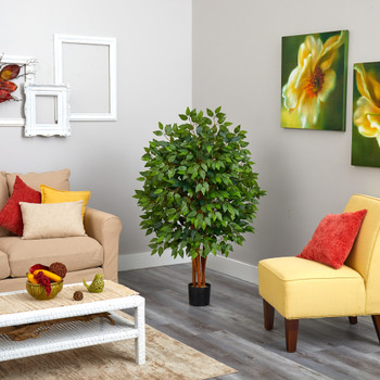 4 Super Deluxe Artificial Ficus Tree - SKU #T1406